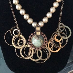 Jewelry - Handmade Vintage Double Strand Necklace